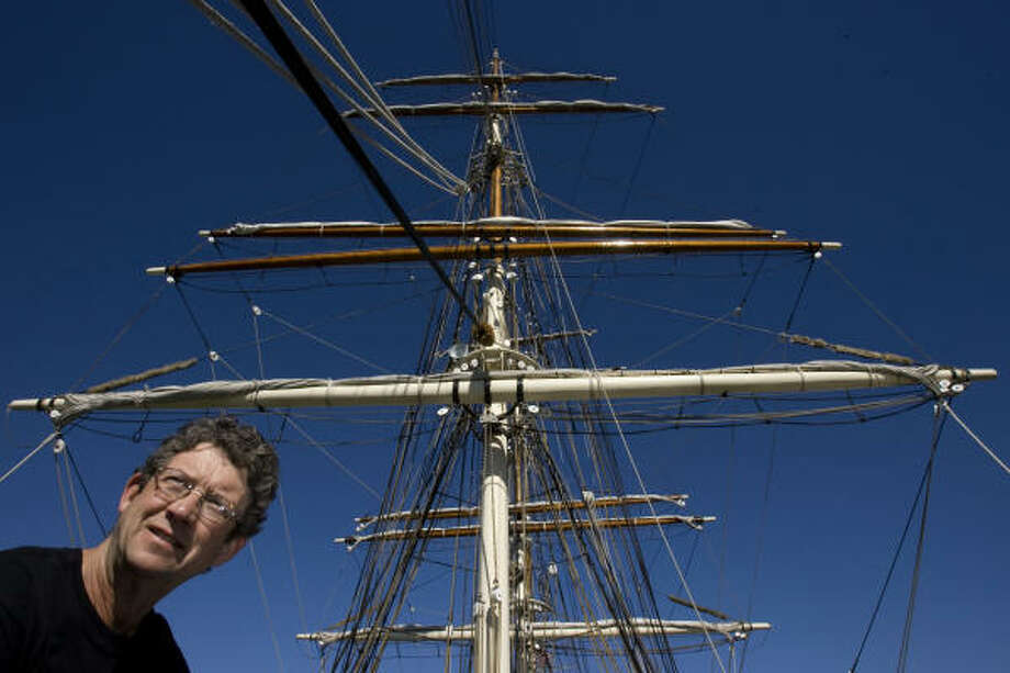 San Diego sailmaker Jim Brink has worked on outfitting vessels for such movies as Master and Commander and Pirates of the Caribbean. Photo: Johnny Hanson, Chronicle