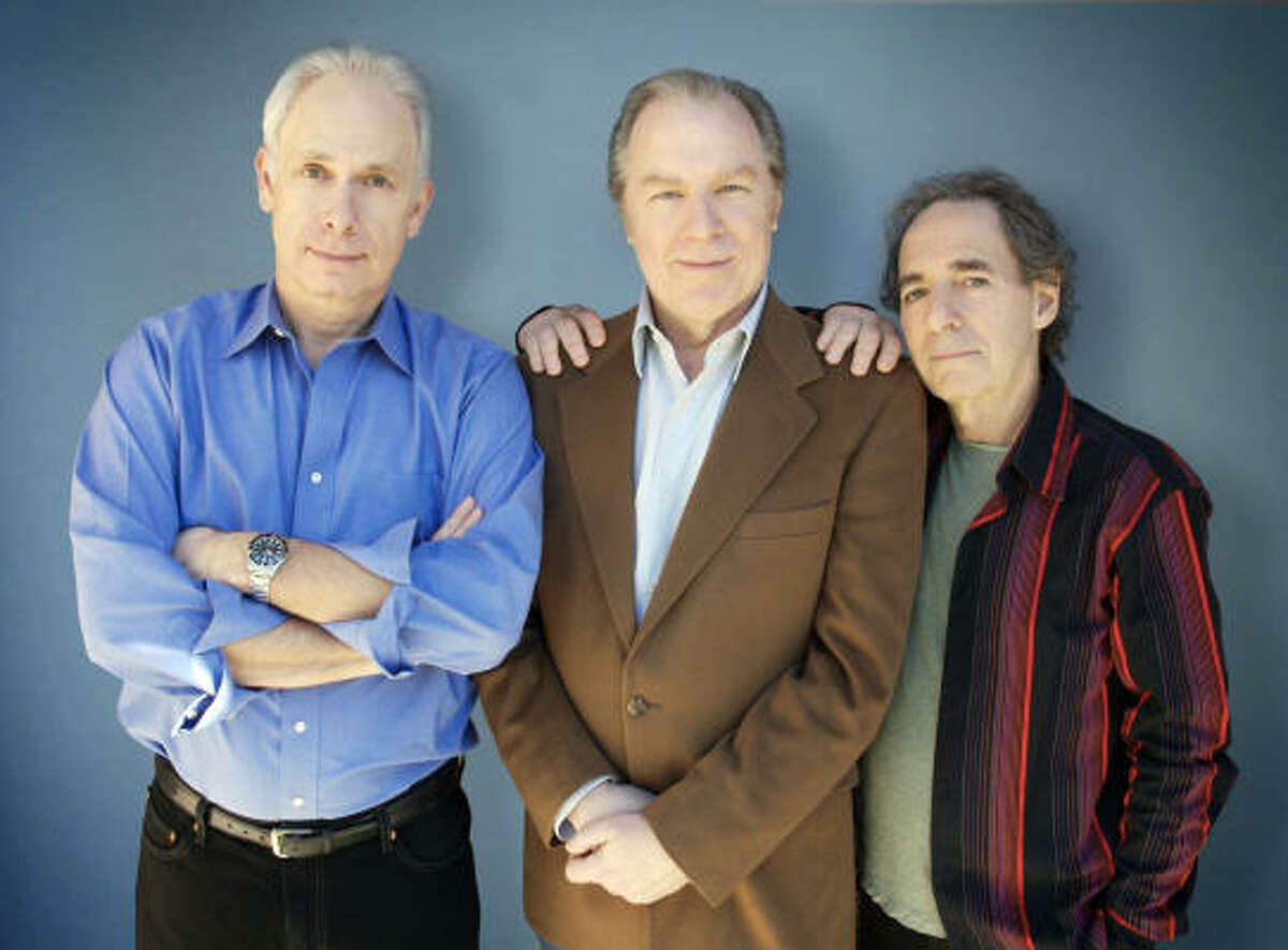 """Chirstopher Guest, from left, Michael McKean and Harry Shearer went back into the studio to create an album of """"redone"""" Spinal Tap songs."""