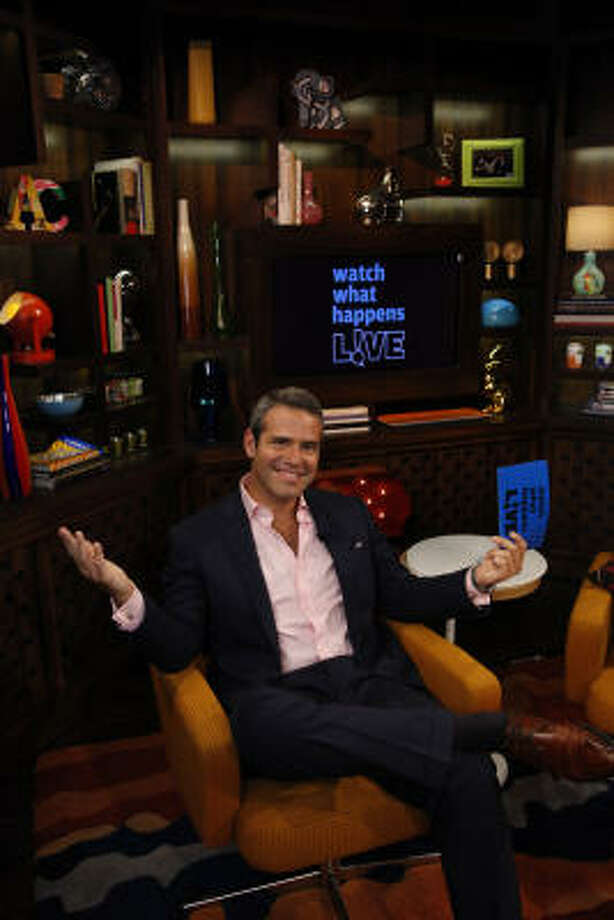 Andy Cohen says the set of Bravo's Watch What Happens: Live was inspired by a room in his apartment. Photo: Bravo