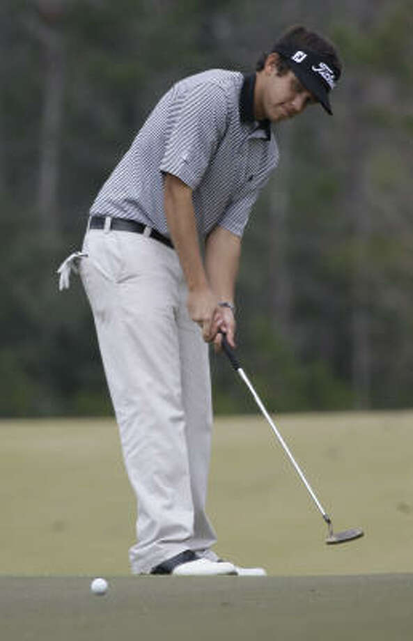 Cory Whitsett of Houston is tied at 16th after shooting an uncharacteristic 3-over-par 75. Photo: Melissa Phillip, Chronicle