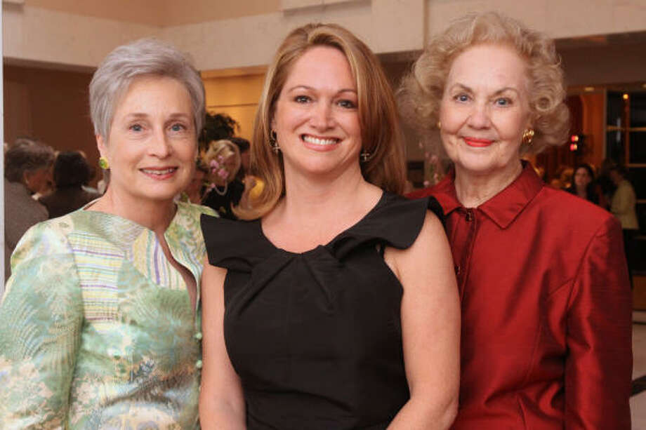 Nancy Willerson, from left, Kiki Wilson and Evelyn Howell Photo: Bill Olive, For The Chronicle