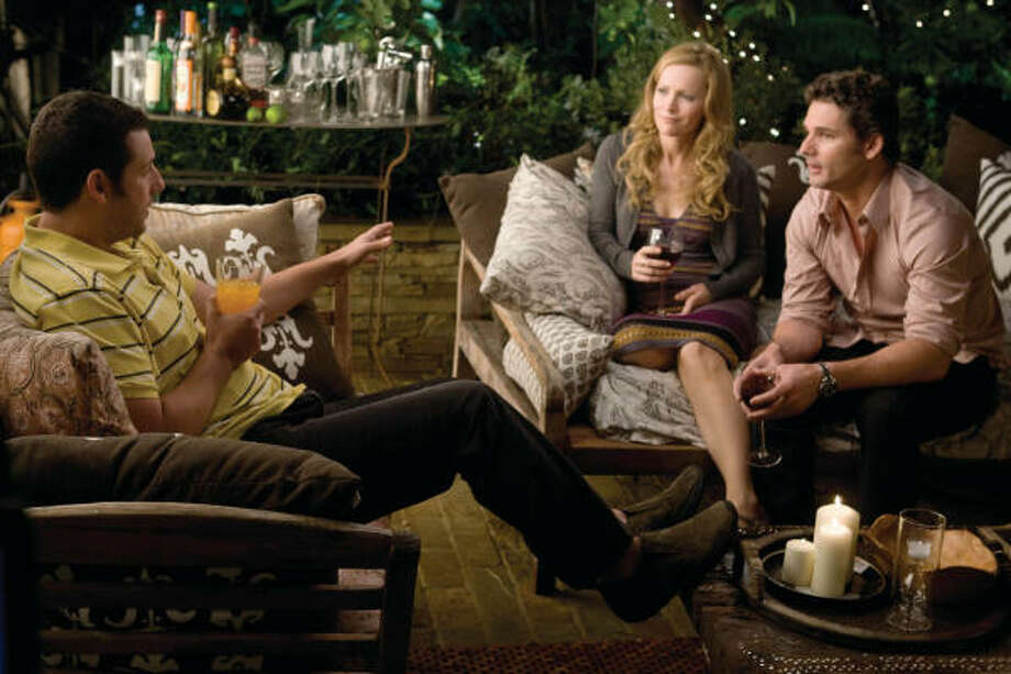 Adam Sandler, from left, Leslie Mann and Eric Bana star in the comedy Funny People, which is in theaters now. Photo: Tracy Bennett, Universal Pictures | MCT