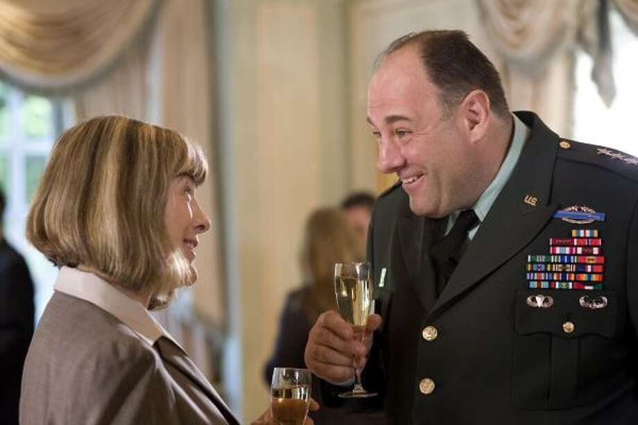 Mimi Kennedy and James Gandolfini star in the comedy In the Loop. Photo: NICOLA DOVE :, IFC