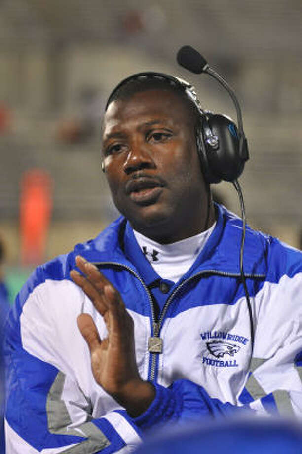 Willowridge head coach Keeath Magee knows that if they want to stay on the radar, they have to keep winning. Photo: L. Scott Hainline, For The Chronicle