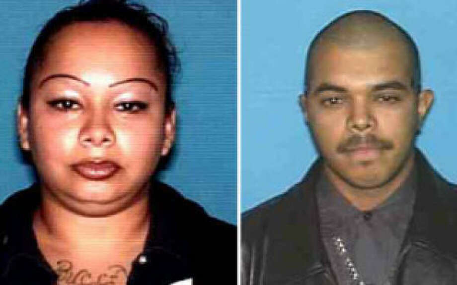 Monica Perez, 24, and Michael Moreno, 23, were taken into custody at an international bridge in Brownsville. Photo: Wharton Police