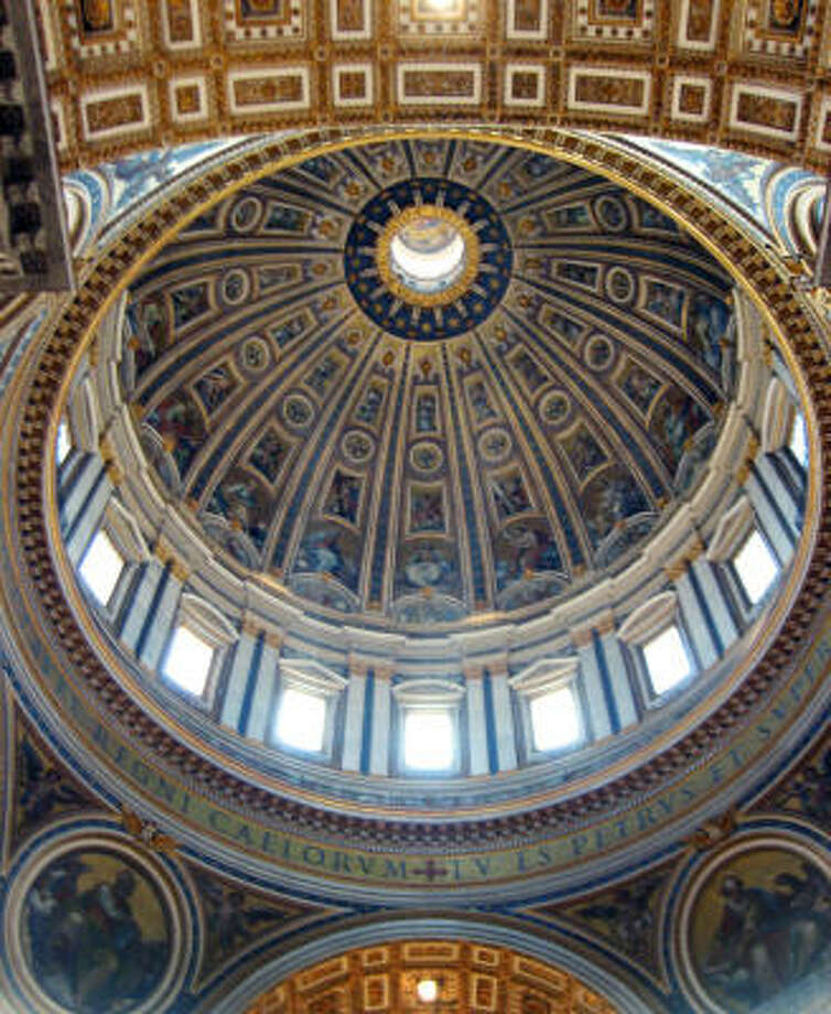 Standing beneath St. Peter's dome in Rome is one of Europe's great spiritual experiences. Photo: ROBYN CRONIN