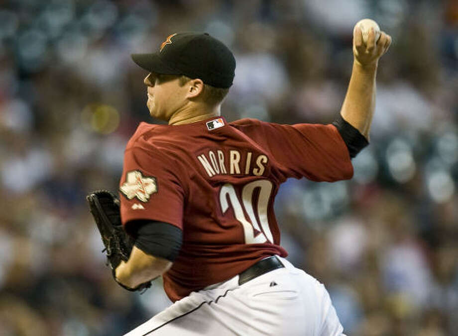 Bud Norris has far surpassed any innings level he reached in his minor league career. Photo: James Nielsen, Houston Chronicle