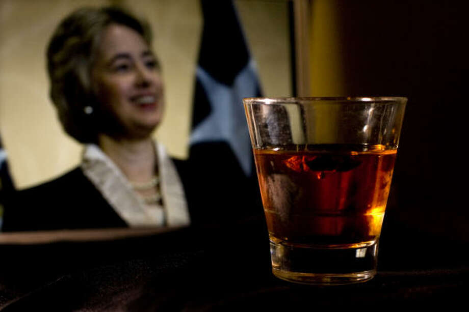 The Overseer was created by Beaver's Icehouse bartender Claire Sprouse in honor of Mayor-elect Annise Parker. Photo: Johnny Hanson, Chronicle