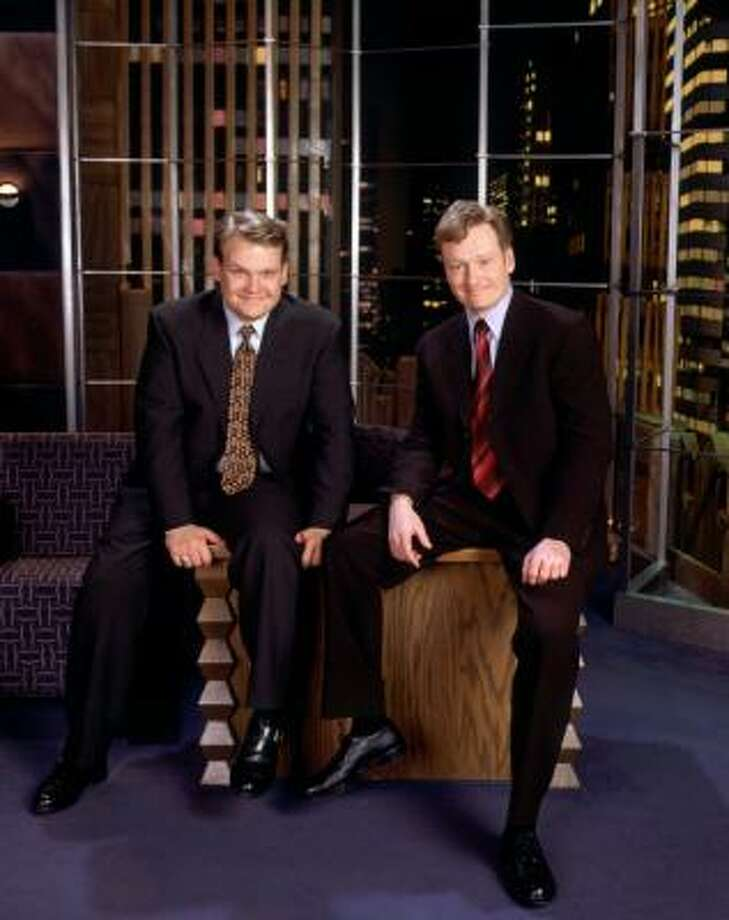 Andy Richter, left, will join Conan O'Brien when O'Brien takes a seat at the desk of The Tonight Show June 1. Photo: James Sorensen, NBC