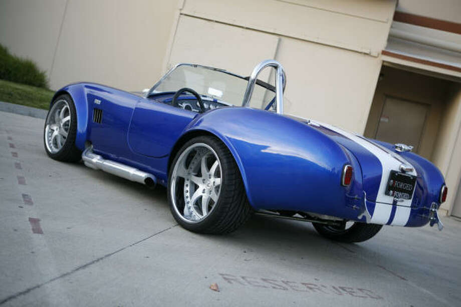 This Factory Five MK3 roadster replica kit car rolls on three-piece modular iForged Sprint wheels. Photo: IFORGED