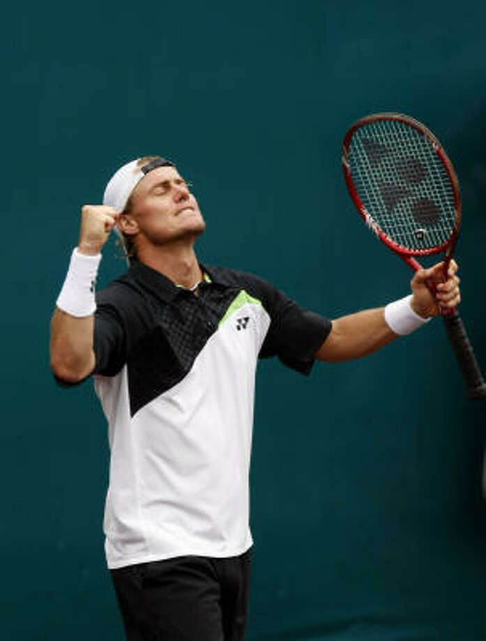 Lleyton Hewitt, left, and Wayne Odesnik will square off for the title today. Photo: Johnny Hanson, Chronicle