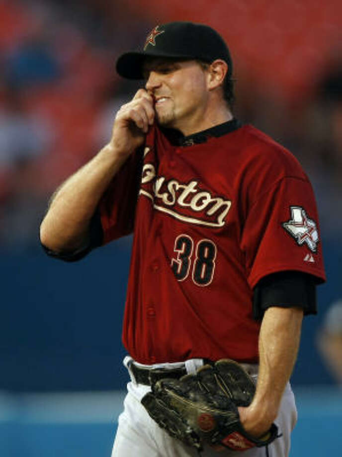 Brian Moehler allowed four runs and five hits in five innings. Photo: Alan Diaz, AP