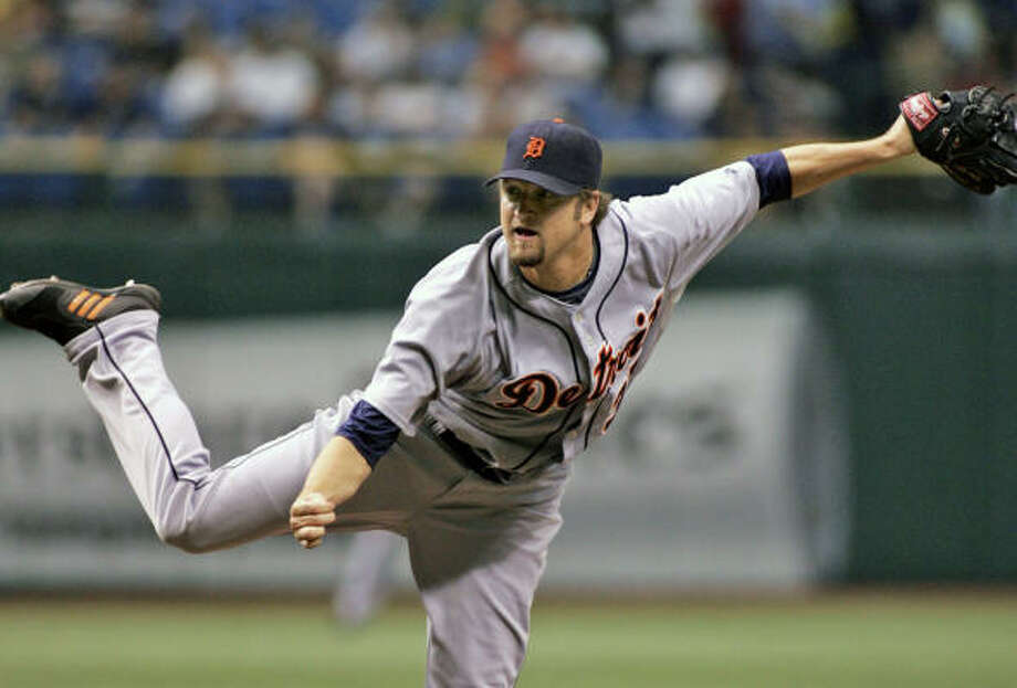 Brandon Lyon had a career season for the Tigers last year, compiling a 2.86 ERA. Photo: Reinhold Matay, AP