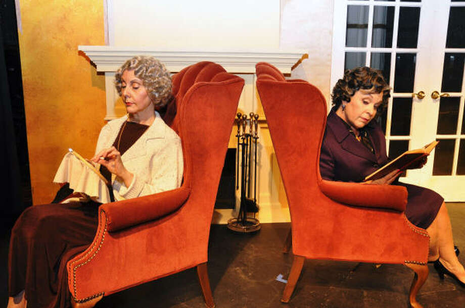 After a falling out 30 years ago over a man, May (Tess Wells), left, and Lotta (Rachel Mattox) find themselves living under the same roof in a retirement home for actresses. Photo: Courtesy Photo
