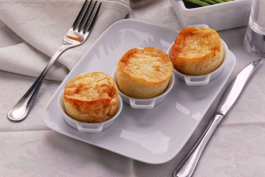 Soufflés are made from just a few ingredients and can be sweet or savory, like this cheese version. Photo: FOTOLIA