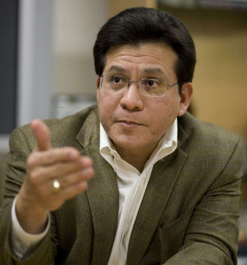 """There is a lot of misinformation out there about what happened,"" said former Attorney General Alberto Gonzales. Photo: Nick De La Torre, Chronicle"