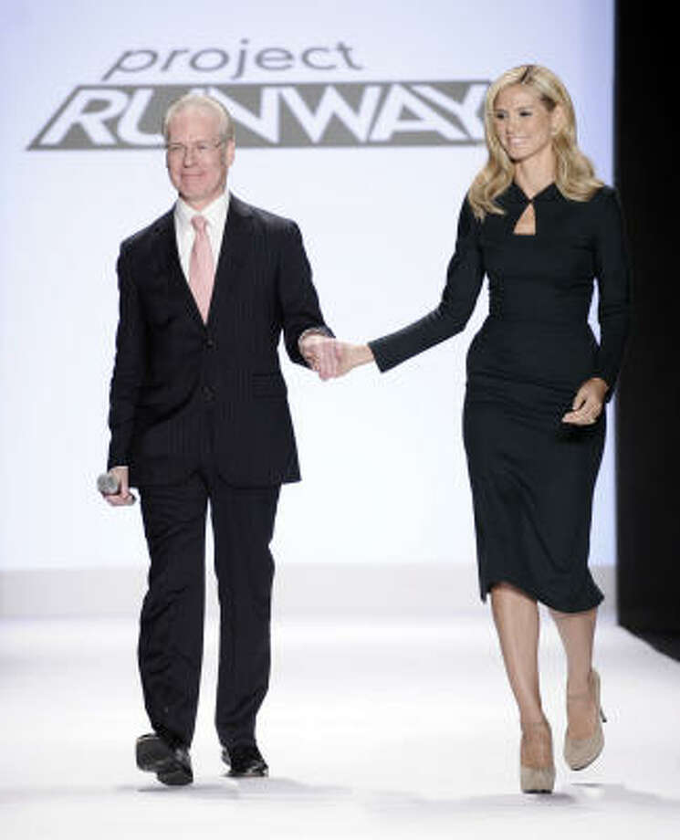 Project Runway's Tim Gunn and Heidi Klum keep things fresh on the show, which starts its sixth season this summer. Photo: RICHARD DREW, Associated Press