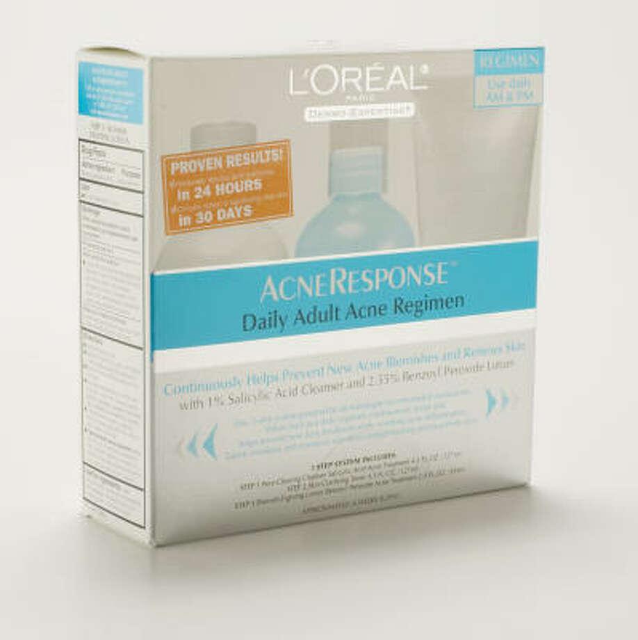 L'Oreal Acne Response Daily Adult Acne Regimen; $24.99 Photo: Eric Kayne, Chronicle