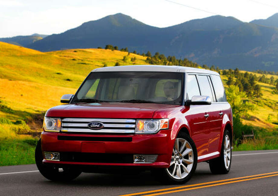 Ford's 2010 Flex crossover vehicle is available with efficient EcoBoost engine technology. It delivers 355 horsepower and has an estimated city/highway fuel economy rating of 16/22 mpg.
