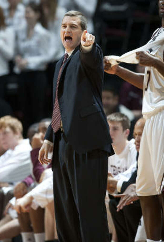 Texas A&M coach Mark Turgeon believes his team was given an unfair early season conference schedule. Photo: Wade Barker, AP