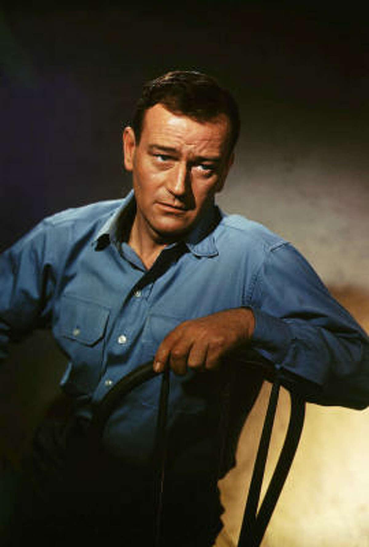 John Wayne filmed scenes for the sci-fi western before his death in 1979.