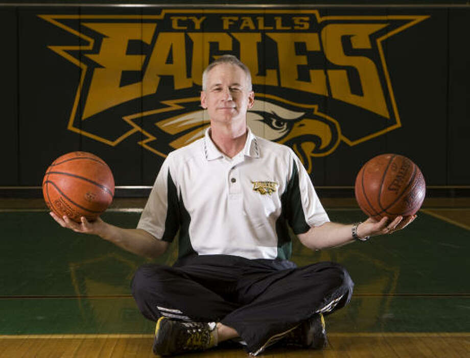 Cypress Falls girls basketball coach Jim Stephens spent five years teaching basketball in the Middle East. Photo: Brett Coomer, Chronicle