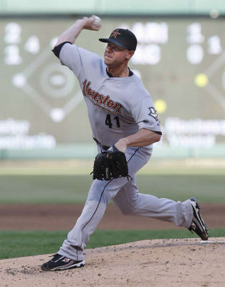 Brandon Backe allowed three runs in four innings in his first start for the Astros this season. Photo: RON T. ENNIS, MCT