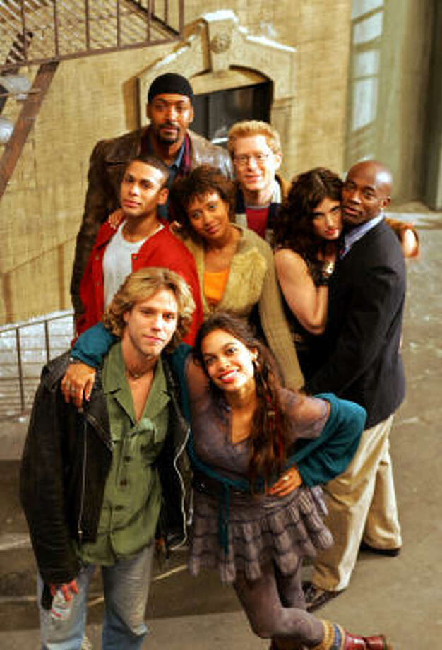 The hit Broadway musical Rent was made into a movie in 2005 with a stellar cast that included Anthony Rapp, Rosario Dawson and Taye Diggs. Photo: ERIC RISBERG, AP