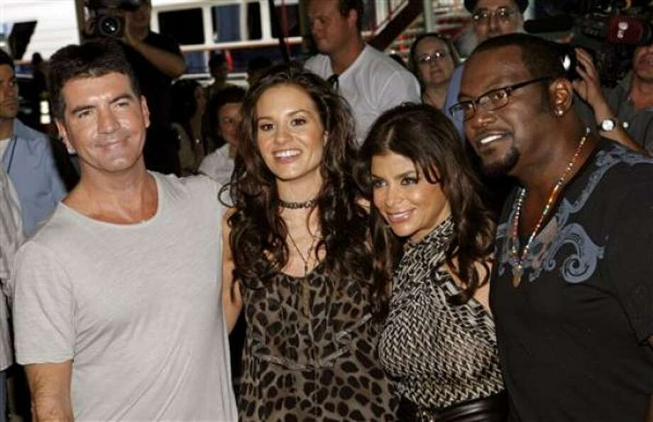"""American Idol"" judges, from left, Simon Cowell, Kara DioGuardi, Paula Abdul and Randy Jackson had their work cut out for them in Phoenix. Photo: Jason DeCrow, Associated Press"