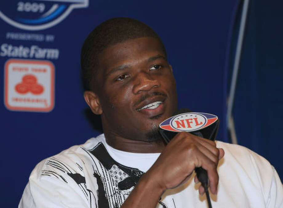 Wide receiver Andre Johnson hopes his Texans can do next season what the Arizona Cardinals did this season: reach the Super Bowl. Photo: Scott Halleran, Getty Images