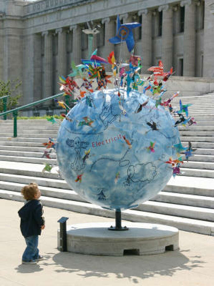 The 6-foot Cool Globe will be featured Saturday at Earth Day Houston as part of a conservation-awareness effort. Photo: COURTESY PHOTO
