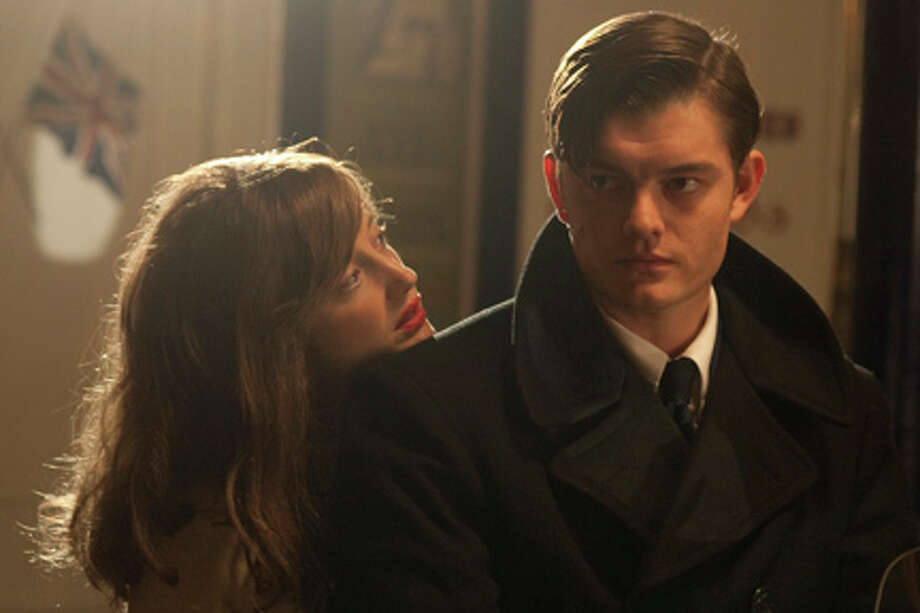 "Andrea Riseborough as Rose and Sam Riley as Pinkie in ""Brighton Rock."""