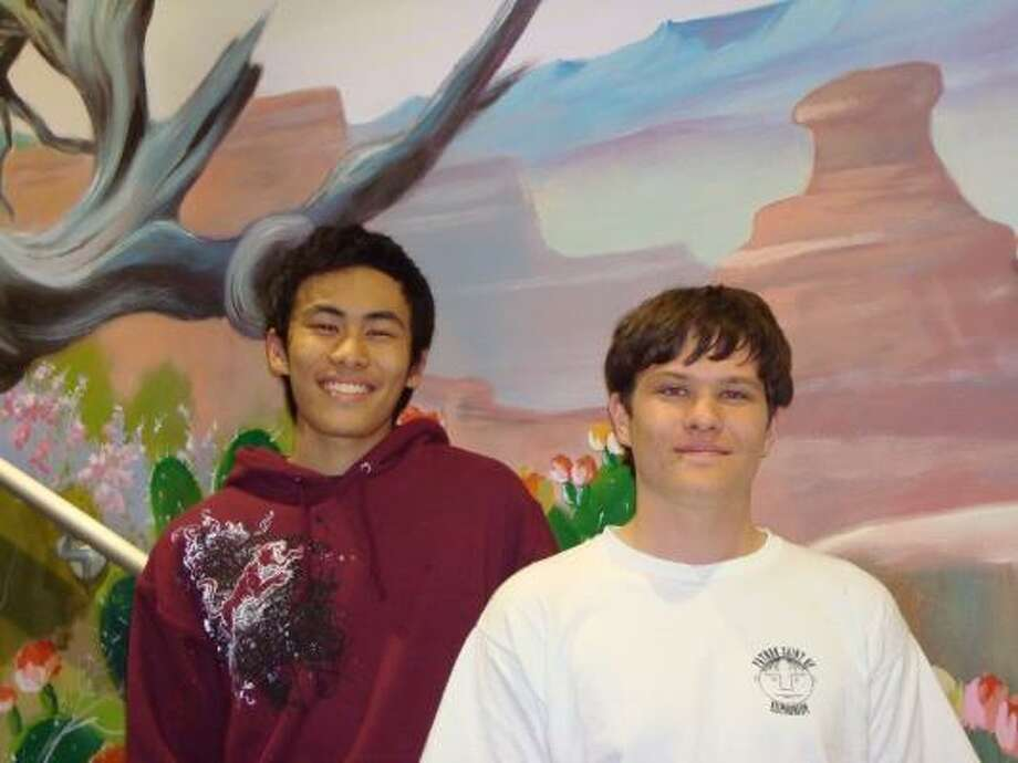 Cinco Ranch High School seniors Yo (Eric) Li, left, and Isaiah Smith are candidates in the 2009 Presidential Scholars program. Photo: Courtesy, Katy ISD