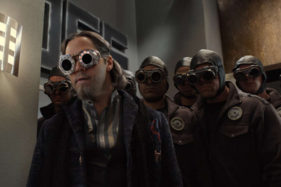 "Jeremy Piven as Timekeeper in ""Spy Kids: All the Time in the World in 4D."""