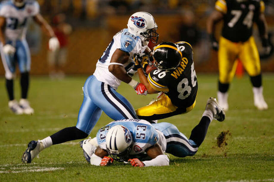 Though they lost, the hard-hitting Titans had a strong effort in the season-opener against Pittsburgh. Photo: Scott Boehm, Getty Images