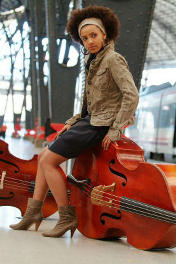 Jazz bassist Esperanza Spalding comes to Houston's Miller Theater on Friday. Photo: Johann Sauty