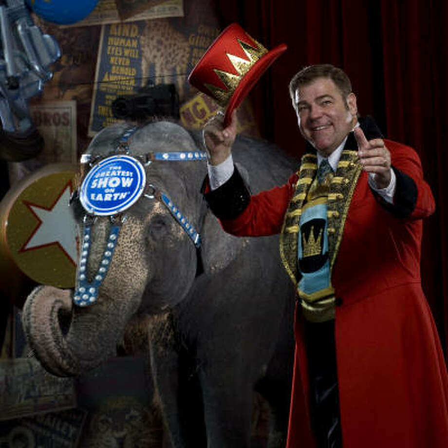 Chuck Wagner, ringmaster for Ringling Bros. and Barnum & Bailey's  circus. Photo: Ringling Bros.