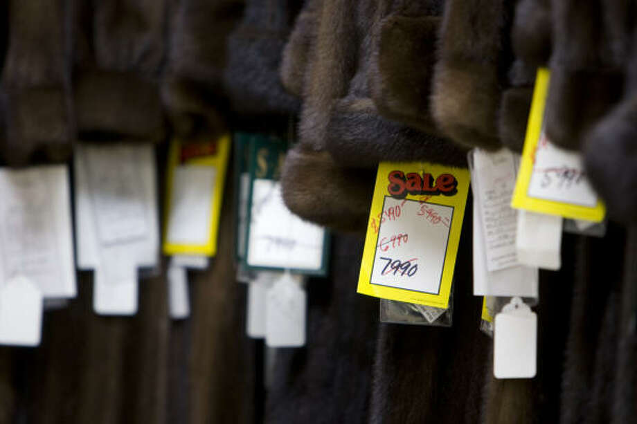 Sakowitz Furs owner Jerry Gronauer says he's 20-25 percent under in sales because he's had to drop the prices on his furs as business has slowed. Photo: Nick De La Torre :, Chronicle