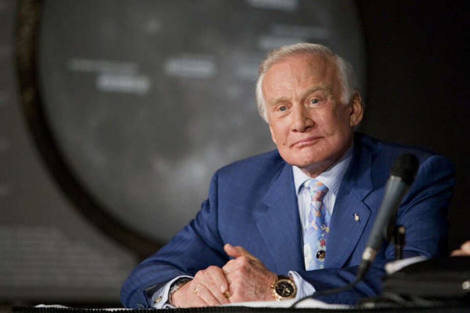 Apollo 11 astronaut Buzz Aldrin says movies may have played a role in developing the nation's interest in exploring the moon and space. Photo: Matt Stroshane :, Getty Images