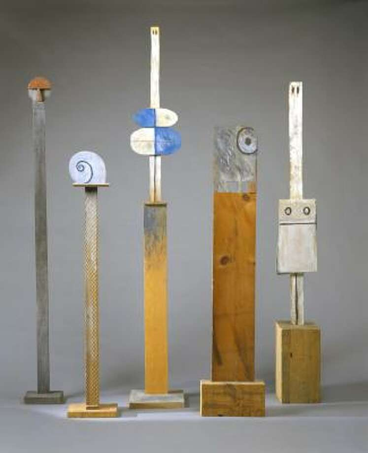 The Museum of Fine Arts, Houston, lent totemic sculptures created between 1979 and 1985 by Francisco Matto to the Blanton Museum of Art's survey. Photo: Museum Of Fine Arts, Houston, Estate Of Francisco Matto