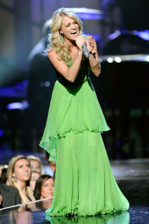 Most artists avoid sad songs. Only Carrie Underwood was grim with Just a Dream, a song about a woman widowed when her soldier spouse is killed in the line of duty. Photo: Kevork Djansezian, Getty Images