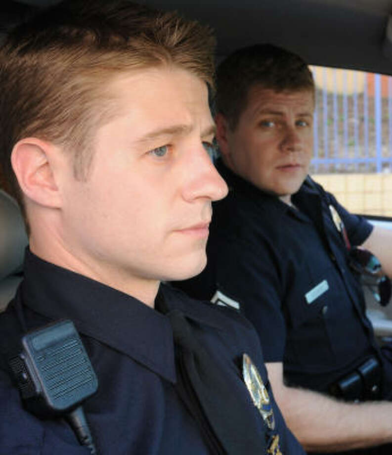 "On NBC's realistic new police series ""Southland,"" native Texan Ben McKenzie, left, plays rookie cop Ben Sherman, and Michael Cudlitz is John Cooper. McKenzie played troubled teen Ryan Atwood on Fox's ""The O.C."" Photo: RICHARD FOREMAN :, NBC"