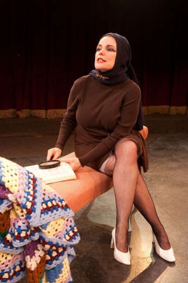 "Nancy Johnston received rave reviews for her role as ""Little"" Edie Beale in Stages' Grey Gardens. Photo: Bruce Bennett"