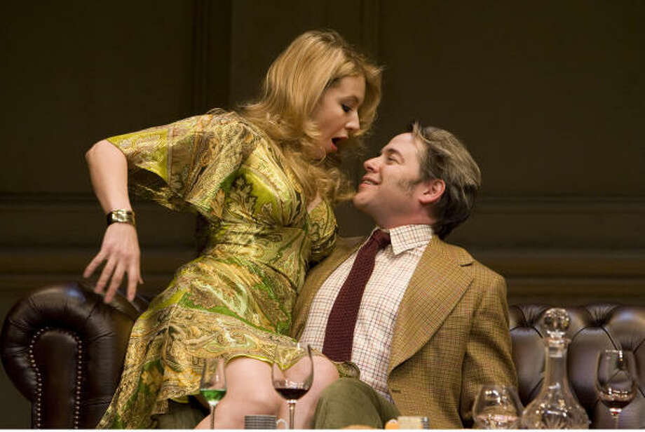 Take in The Philantropist with Jennifer Mudge and Matthew Broderick. Photo: Joan Marcus