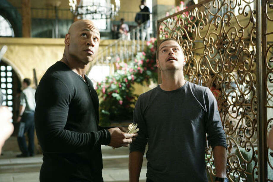 """Special agents Sam Hanna (LL Cool J , left) and """"G"""" Callen (Chris O'Donnell) investigate the death of a Navy officer in Tuesday's premiere of NCIS: Los Angeles. Photo: SONJA FLEMMING, CBS"""