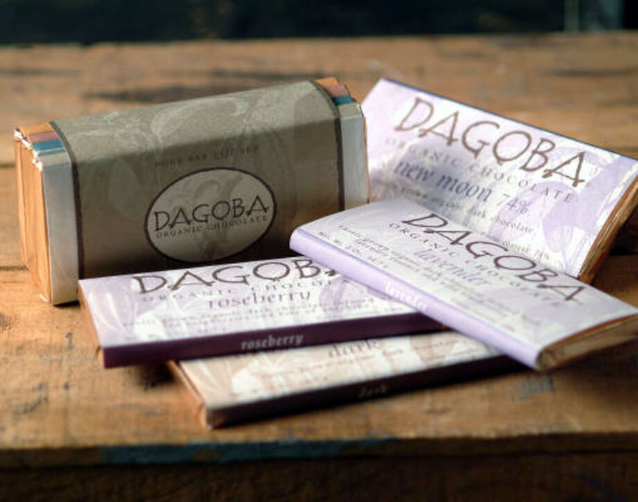 Dagoba chocolates infuses high-quality organic, sustainably grown cacao with chiles, lavender, ginger or cinnamon. Photo: DAGOBA CHOCOLATES