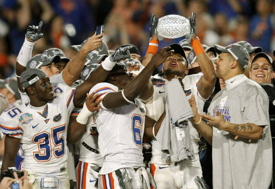 When Florida won its second national title in three years Jan. 8, enough viewers in the Houston market watched to rank it 26th nationally, making it one of only three major sporting events in which Houston did not rank in the bottom 10 in 2008-09. Photo: J. Pat Carter, AP