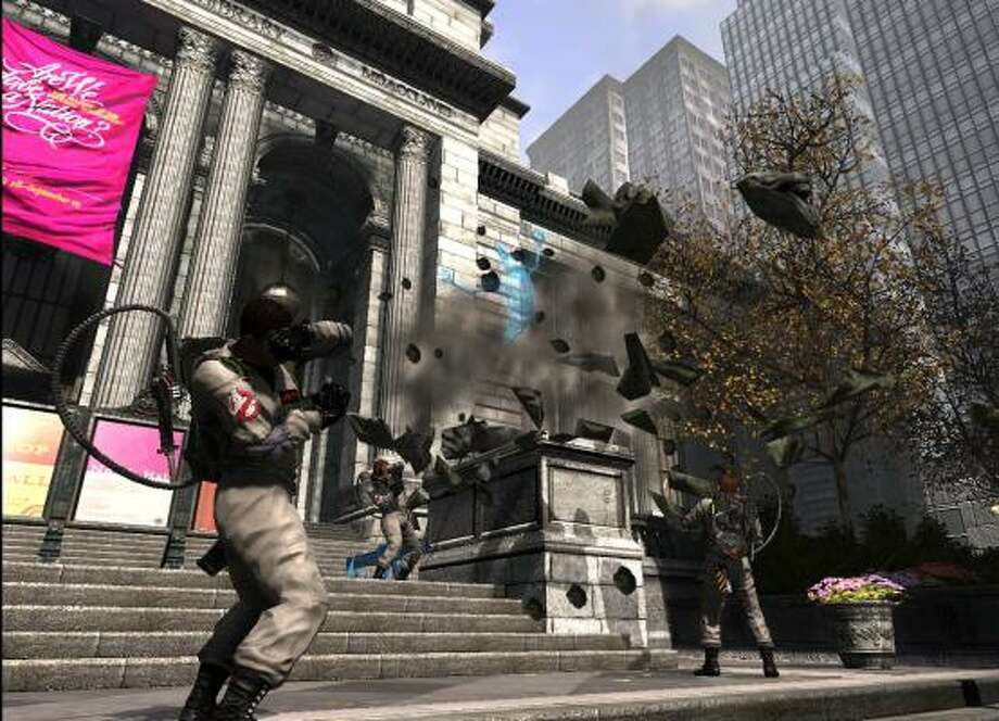 Ghostbusters battle some supernatural spirits in Ghostbusters: The Video Game. Photo: ATARI