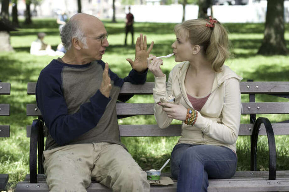 Boris (Larry David) befriends Melodie (Evan Rachel Wood), a runaway who shows up outside his apartment. Photo: Sony Pictures Classic