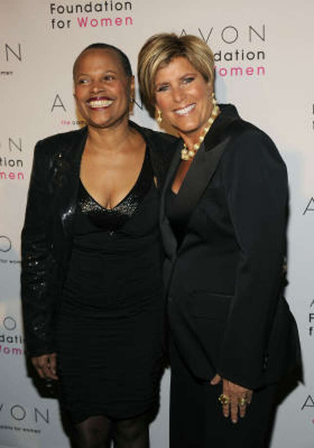Author Sapphire and Suze Orman attended the Avon Foundation's Champions Who Change Women's Lives celebration in New York City. Photo: Larry Busacca, Getty Images